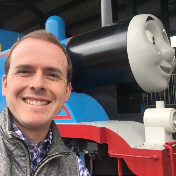 Chet with Thomas the Tank Engine