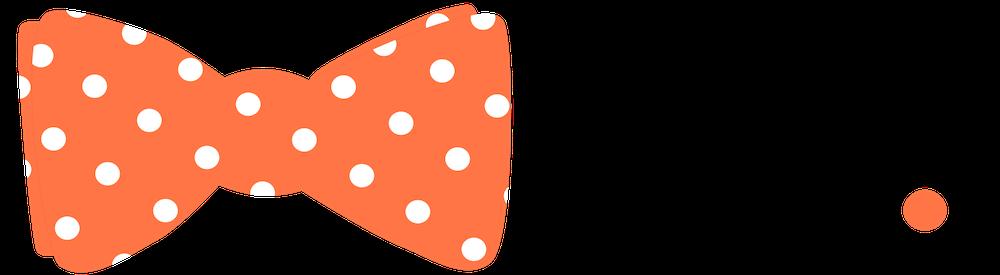 Chet wordmark with orange bowtie