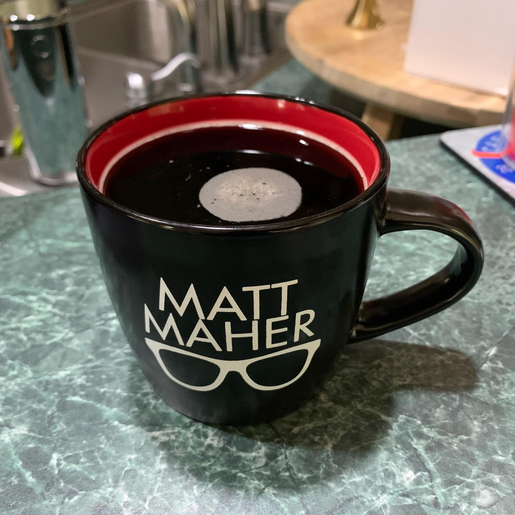 Mug of black coffee